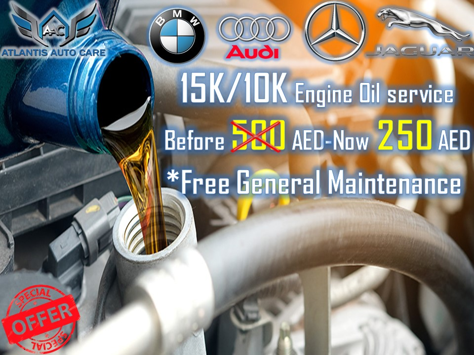 10K Engine Oil Service for German Cars @ 250 AED